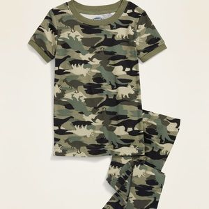 SOLD - Camo-Dino Pajama Set Toddler Unisex